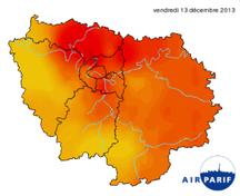 carte de pollution île de france